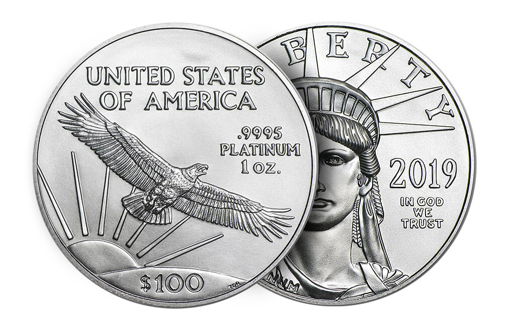 2016 1 oz Platinum American Eagle Coin, image 2