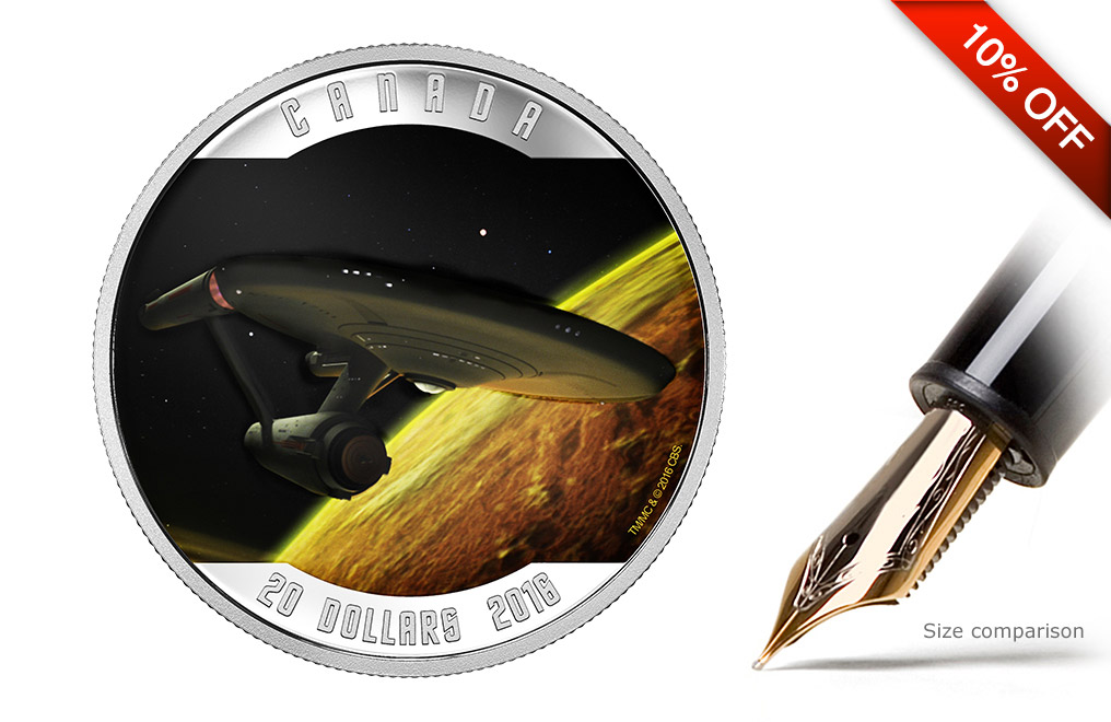 Buy 2016 1 oz Silver Star Trek™ Enterprise Coins, image 0