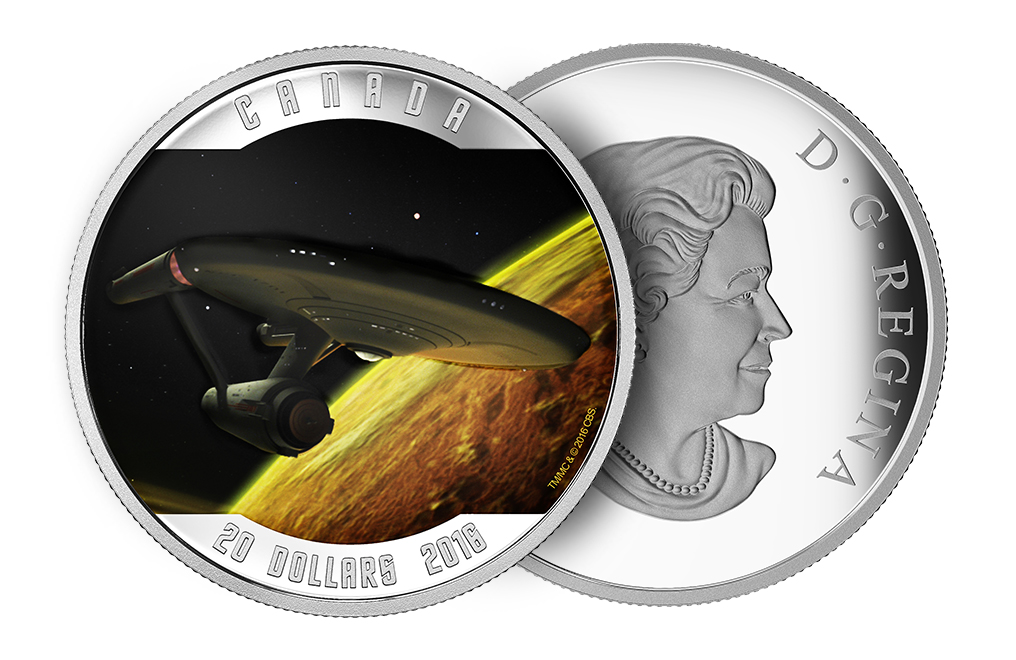 Buy 2016 1 oz Silver Star Trek™ Enterprise Coins, image 2