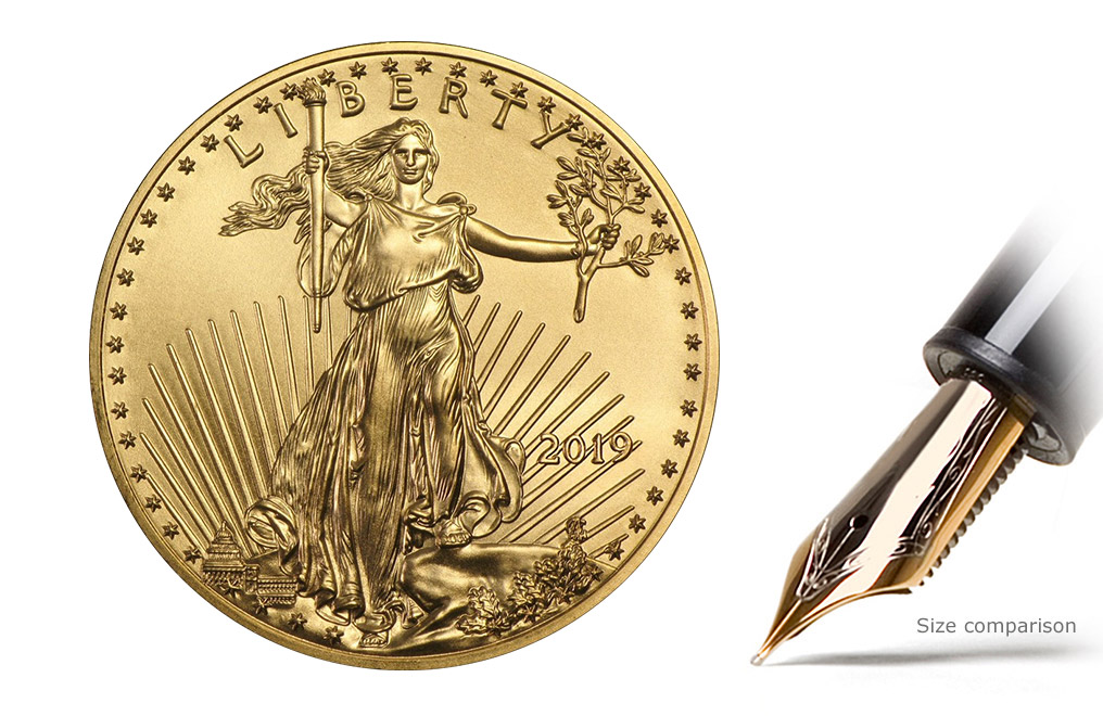 Buy 2018 1 oz Gold Eagle Coins MintFirst (20 per tube), image 2