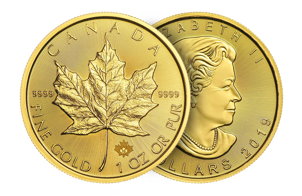 Buy 2019 MintFirst 1 oz Gold Maple Leaf Coins (tube of 10), image 3