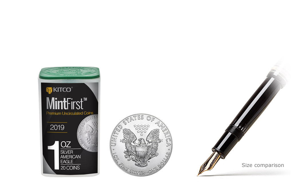 Buy 2019 MintFirst Silver Eagle Coins (tube of 20), image 0
