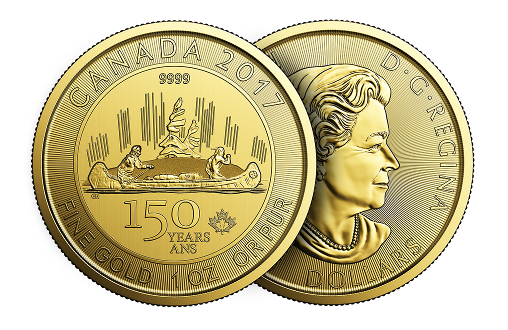 Buy 2017 1 oz Gold RCM 150 Special Edition Voyageur Coin, image 4