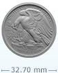 2017 1 oz Palladium American Eagle Coin .9995