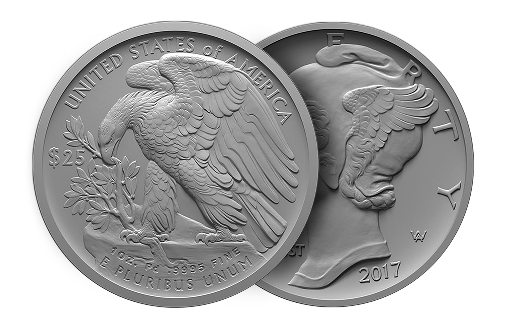 Sell 2017 1 oz Palladium American Eagle Coin, image 2