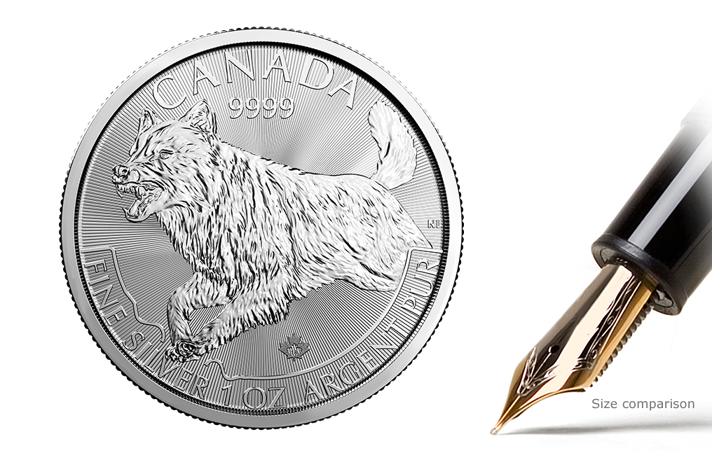 Buy 2018 1 oz Silver Wolf- RCM Predator Series Coin .9999, image 0