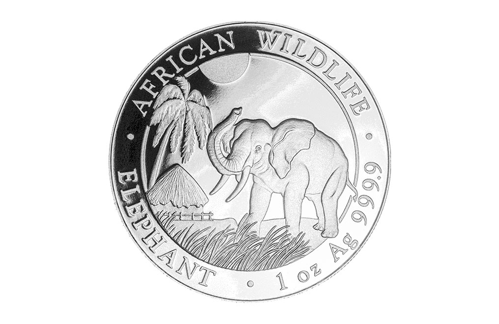 2017 1 oz Silver Somalian African Elephant Coin, image 0