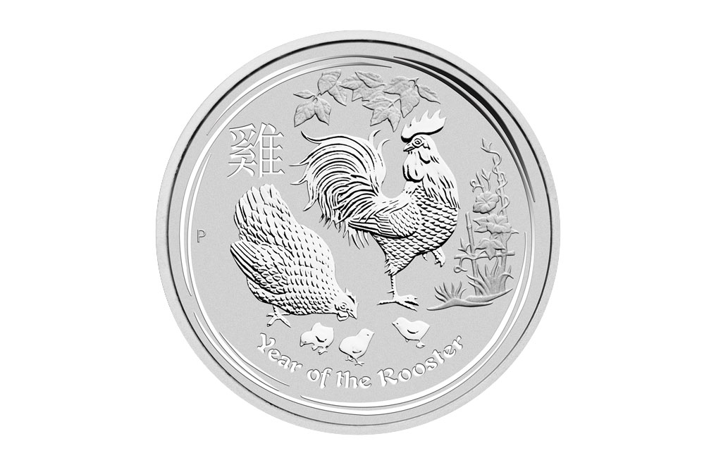 2017 2 oz Silver Australian Lunar Rooster Coin .9999, image 0