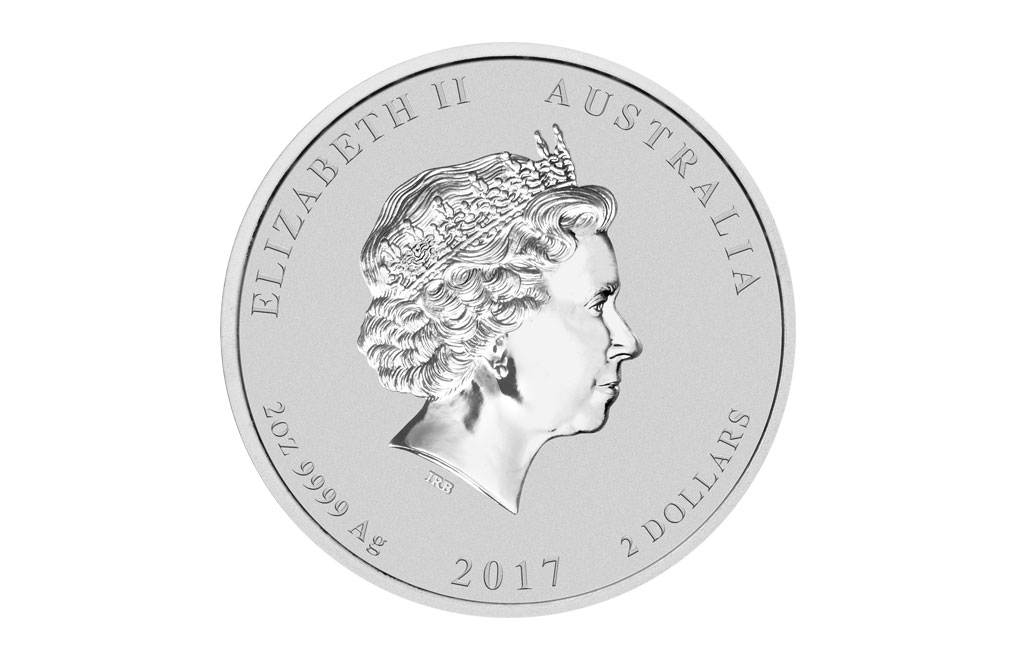 2017 2 oz Silver Australian Lunar Rooster Coin .9999, image 1