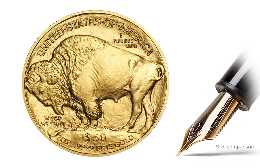 2019 MintFirst™ 1 oz Gold Buffalo (20 Coins), image 2
