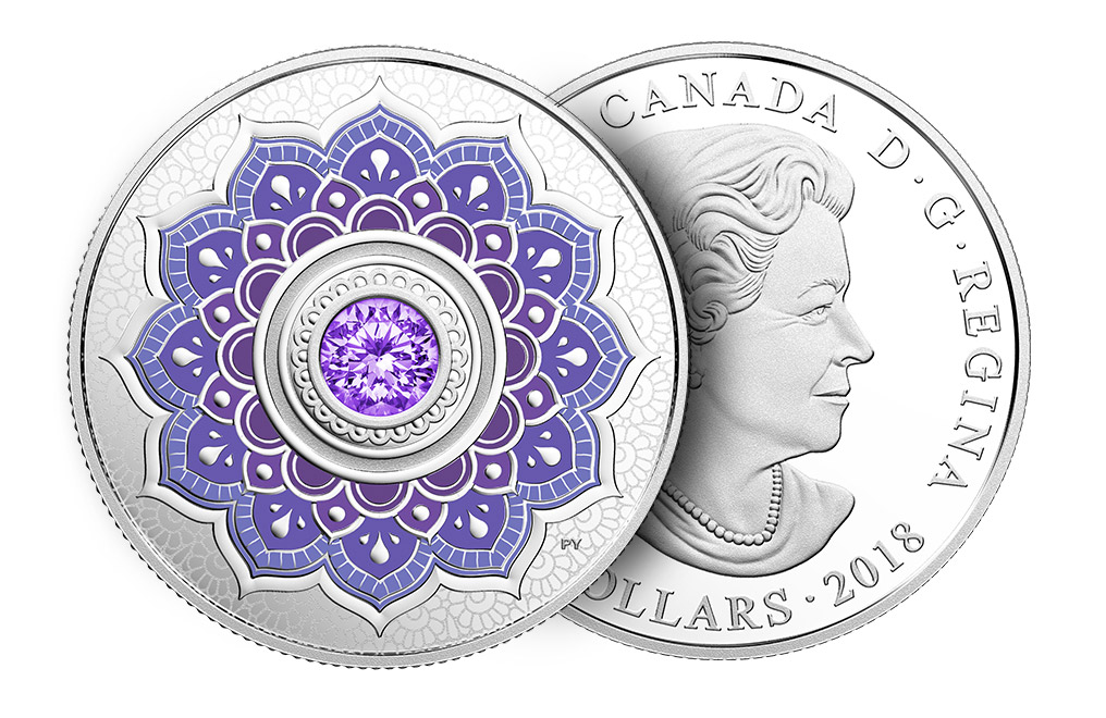 1/4 oz Silver Coin - Birthstone - December .9999, image 2