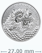1/ 4 oz Silver Coin - Dragon Luck .9999