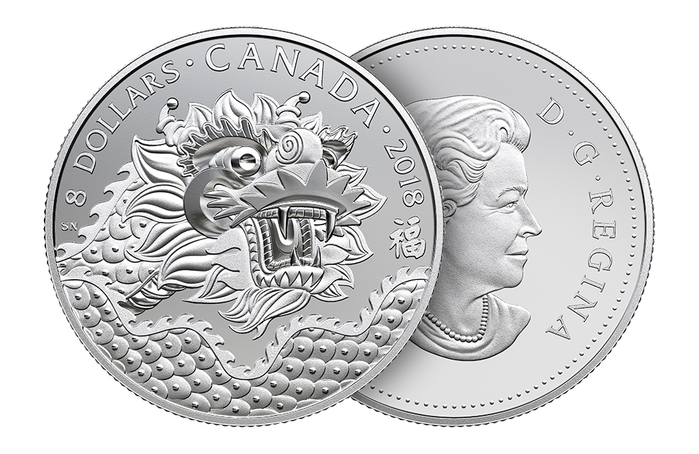 Buy 2018 1/4 oz Silver Coin - Dragon Luck .9999, image 2