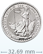2018 1 oz Platinum British Britannia Coin