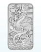 1 oz Silver Australian Dragon Rectangular Coin .9999