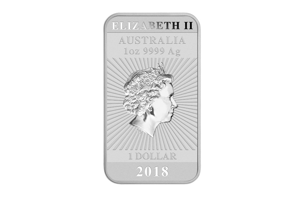 Sell 2018 1 oz Silver Australian Dragon Rectangular Coin, image 1