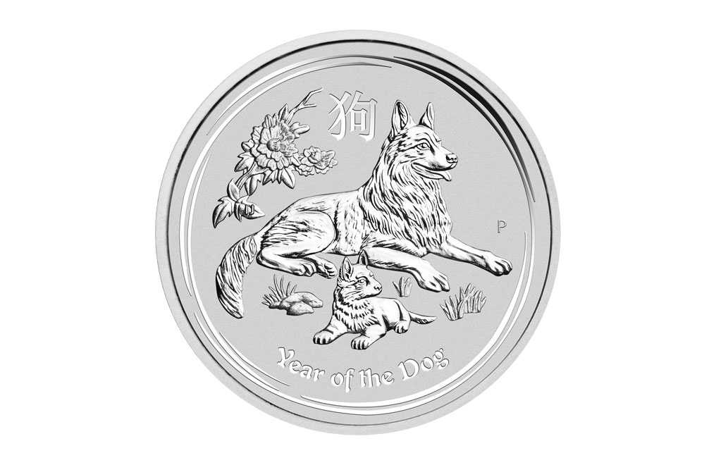 2018 1 Oz Australian Silver Year Of The Dog Lunar Coins Image 0