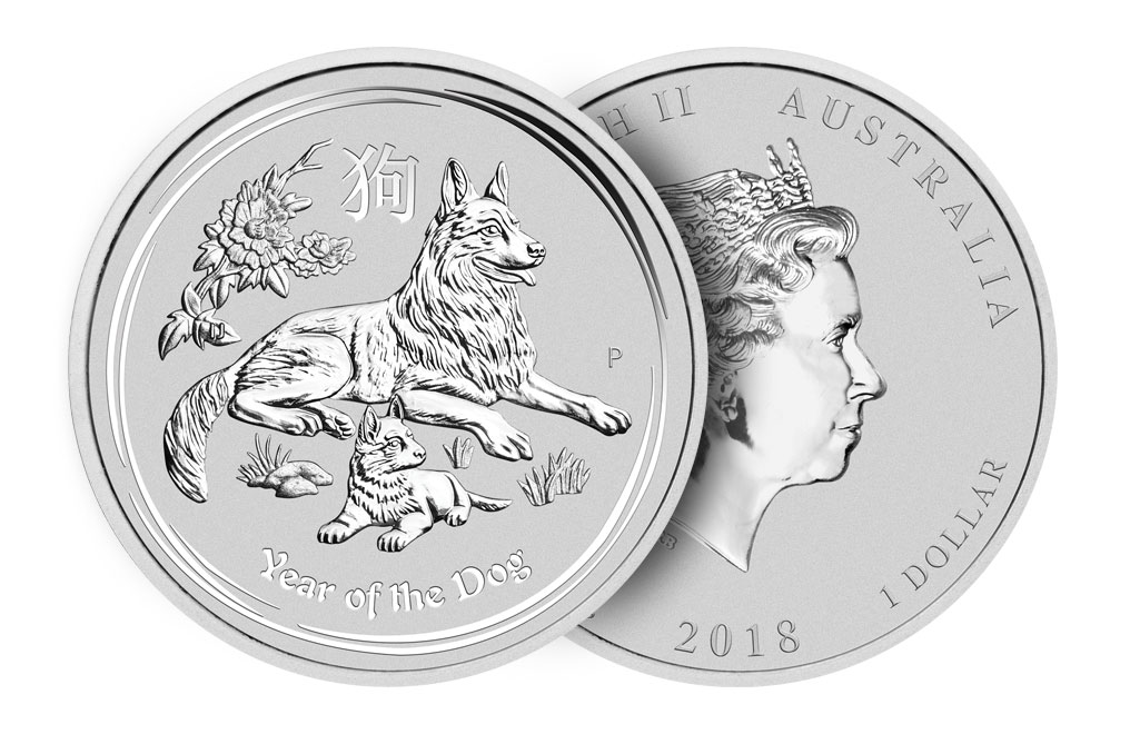 Sell 2018 1 oz Australian Silver Year of the Dog Lunar Coins, image 2
