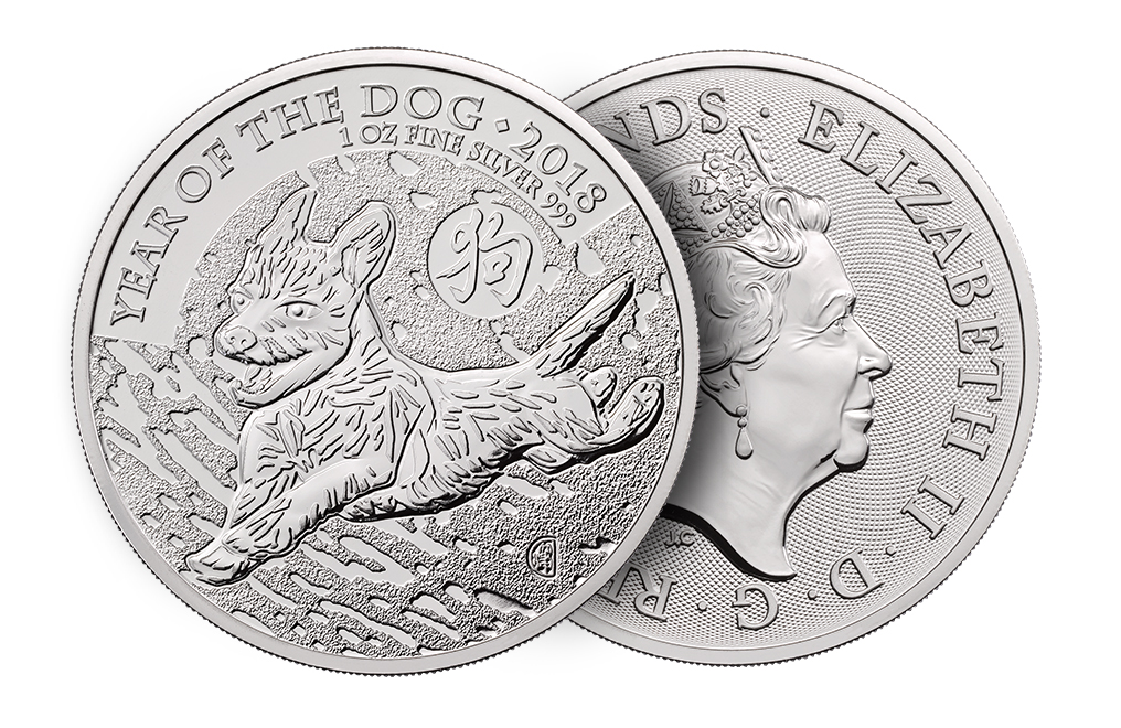 Buy 2018 1 oz British Silver Year of the Dog Lunar Coins, image 2