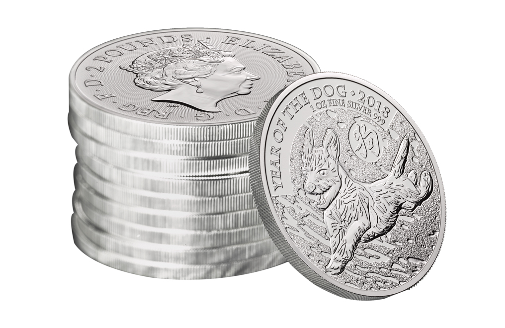 Buy 2018 1 oz British Silver Year of the Dog Lunar Coins, image 3
