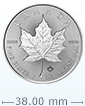 1 oz Silver Maple Leaf Incuse Coin