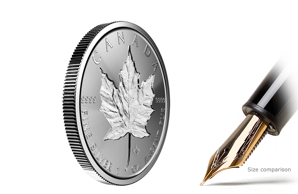 Sell 1 oz Silver Maple Leaf Incuse Coins [Limited Edition], image 0