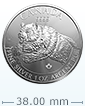 2019 1 oz Silver Grizzly Coin - RCM Predator Series