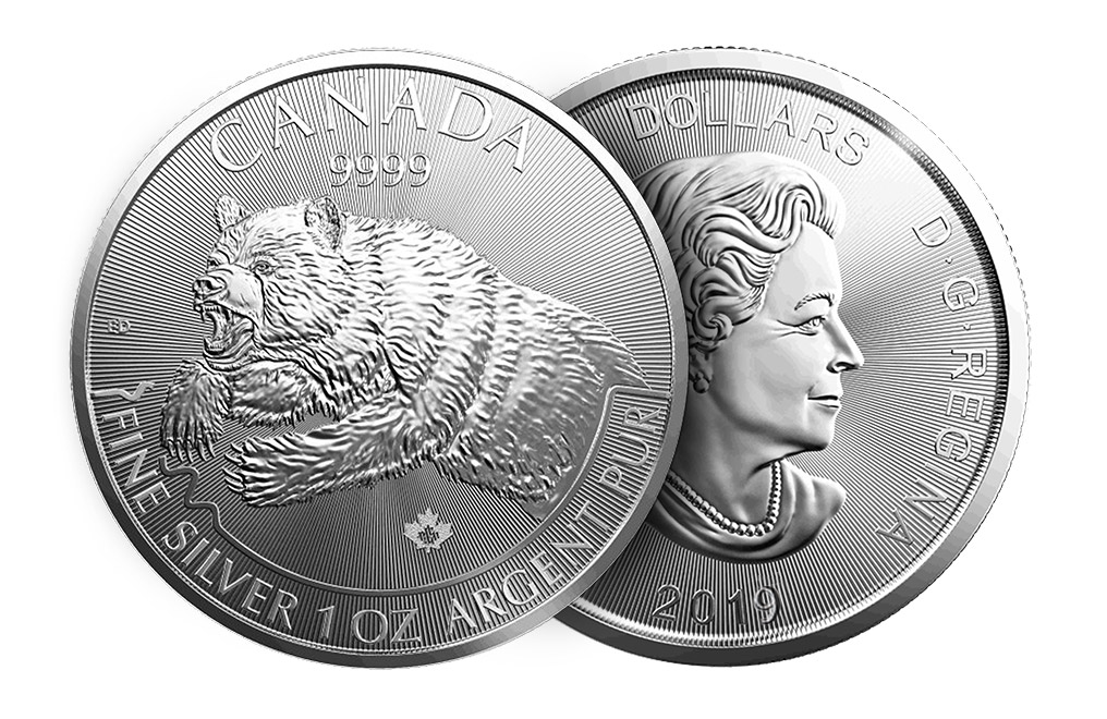 Buy 2019 1 oz Silver Grizzly - RCM Predator Series Coin, image 2