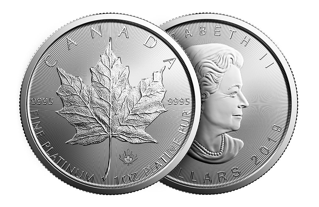 Buy 2019 MintFirst™ 1 oz Platinum Maple Leaf Coins (tube of 10), image 3