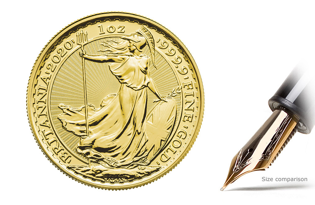 Buy 2020 1 oz Gold Britannia Coins MintFirst™ (Single Coin), image 1