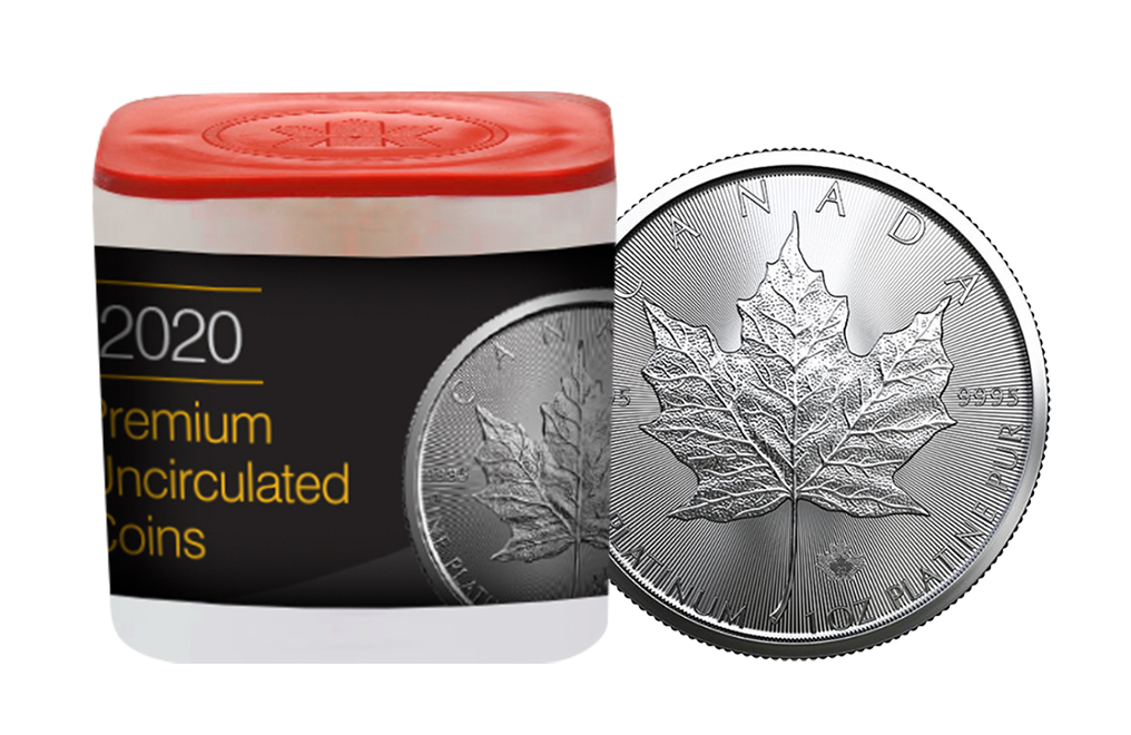 Buy 2020 MintFirst™ 1 oz Platinum Maple Leaf Coins (tube of 10), image 0