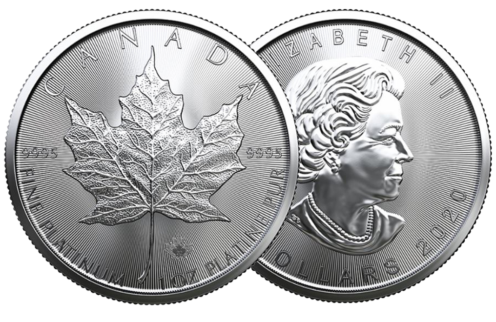 Buy 2020 MintFirst™ 1 oz Platinum Maple Leaf Coins (tube of 10), image 3