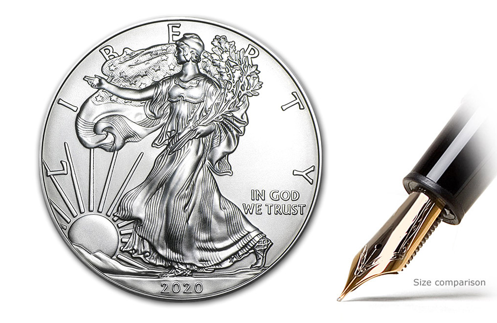 Buy 2020 MintFirst™ Silver Eagle Coins (tube of 20), image 1