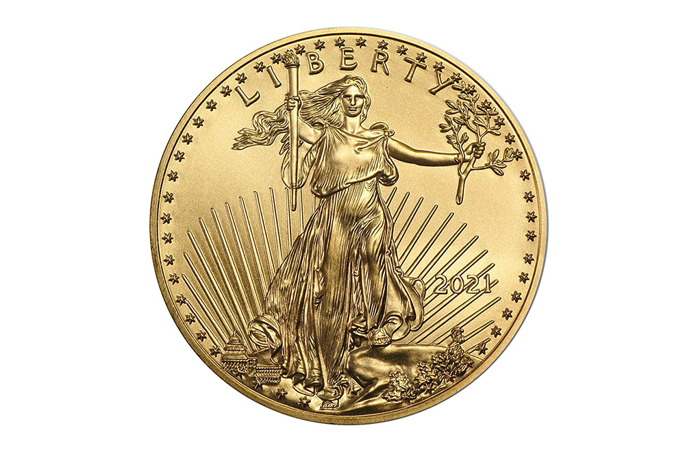 Buy 2021 1 oz Gold Eagle Coins MintFirst™ (20 per tube), image 2