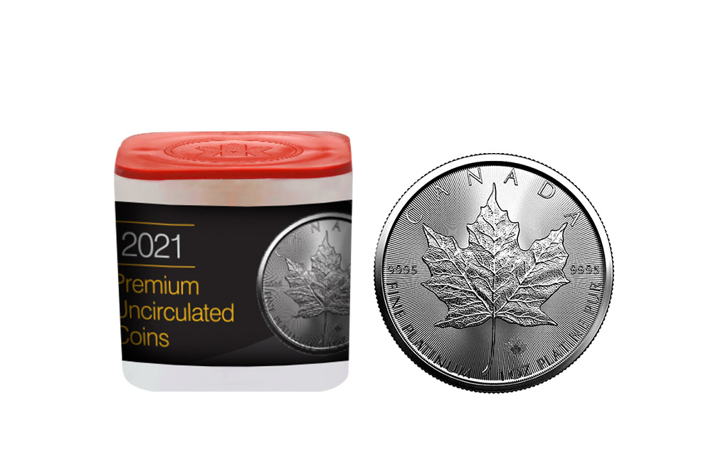 Buy 2021 MintFirst™ 1 oz Platinum Maple Leaf Coins (tube of 10), image 0