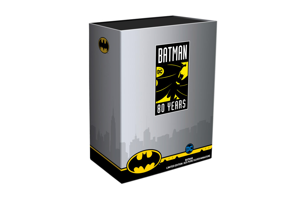 Buy 235g Sterling Silver Batman Miniature - 80th Anniversary, image 3