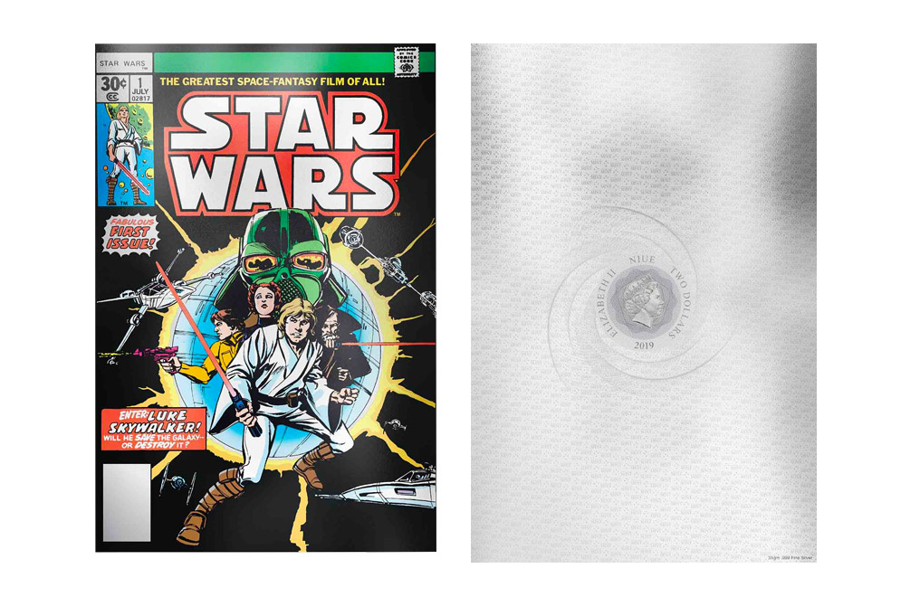 Buy 35 g Premium Silver Foil .999-Star Wars Comics #1, image 2