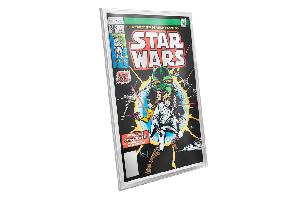 Buy 35 g Premium Silver Foil .999-Star Wars Comics #1, image 4
