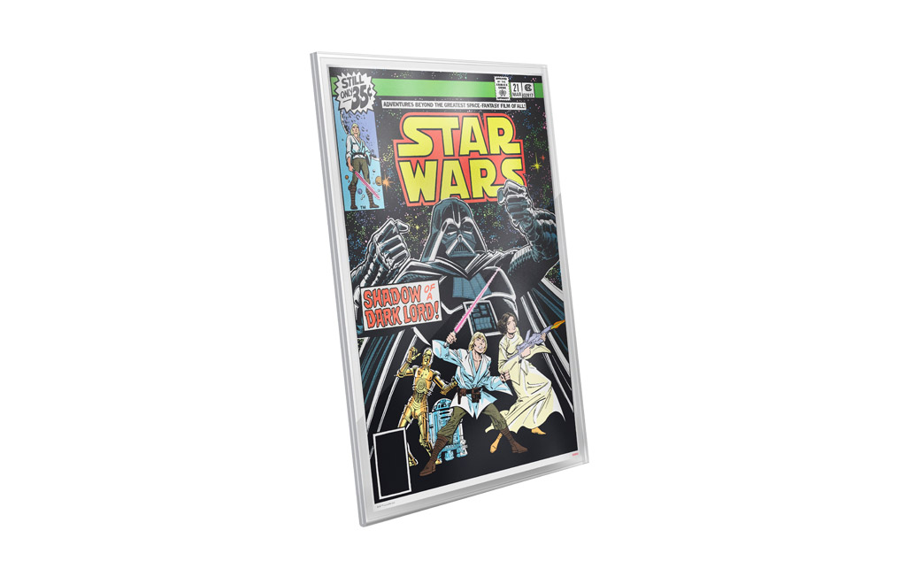Buy 35 g Pure Silver Foil .999 - Star Wars Comics #21, image 1