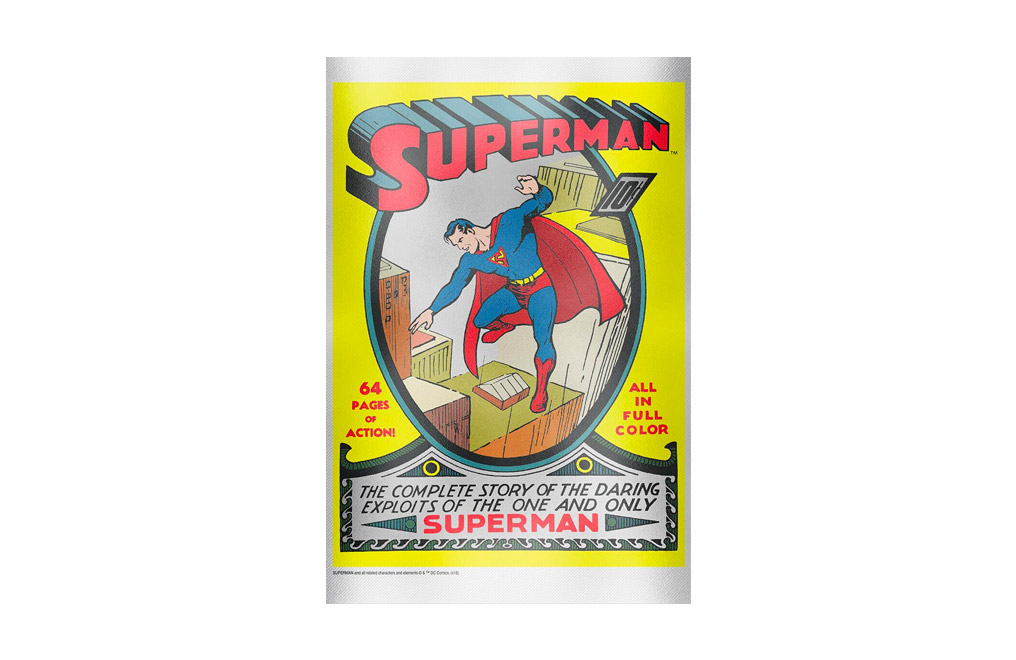 Buy 35 g Pure Silver Foil .999 - Superman Comics #1, image 0