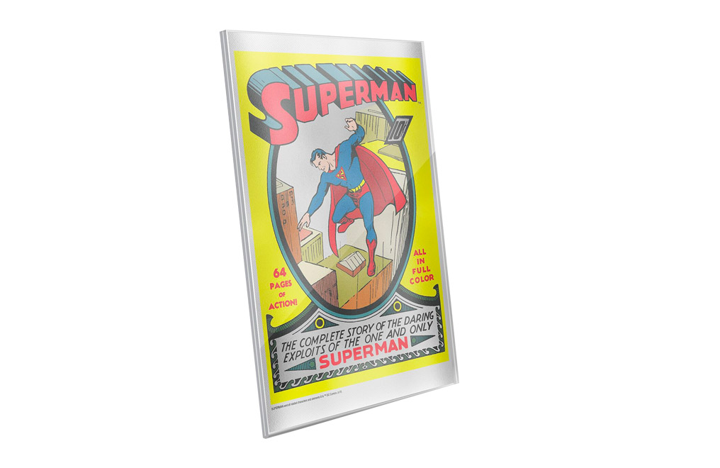 Buy 35 g Pure Silver Foil .999 - Superman Comics #1, image 1