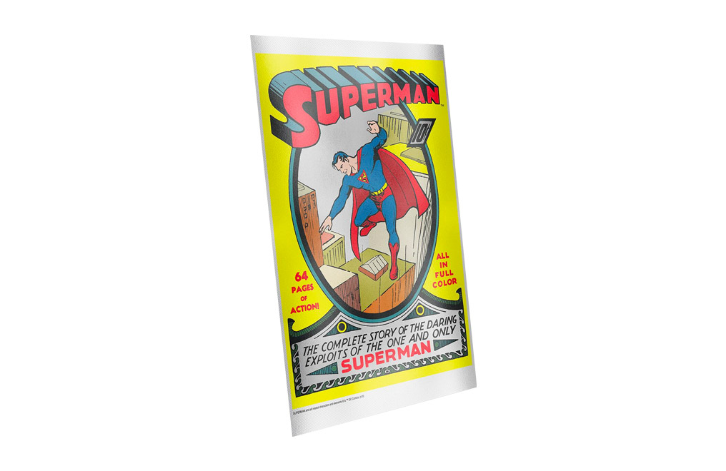 Buy 35 g Pure Silver Foil .999 - Superman Comics #1, image 2