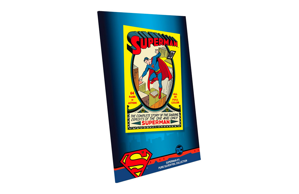 Buy 35 g Pure Silver Foil .999 - Superman Comics #1, image 3