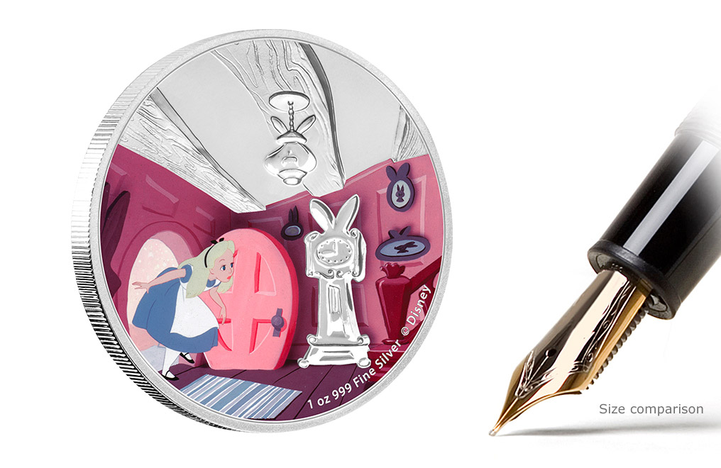 Buy 4 x 1 oz Silver Coin Set - Alice in Wonderland, image 1