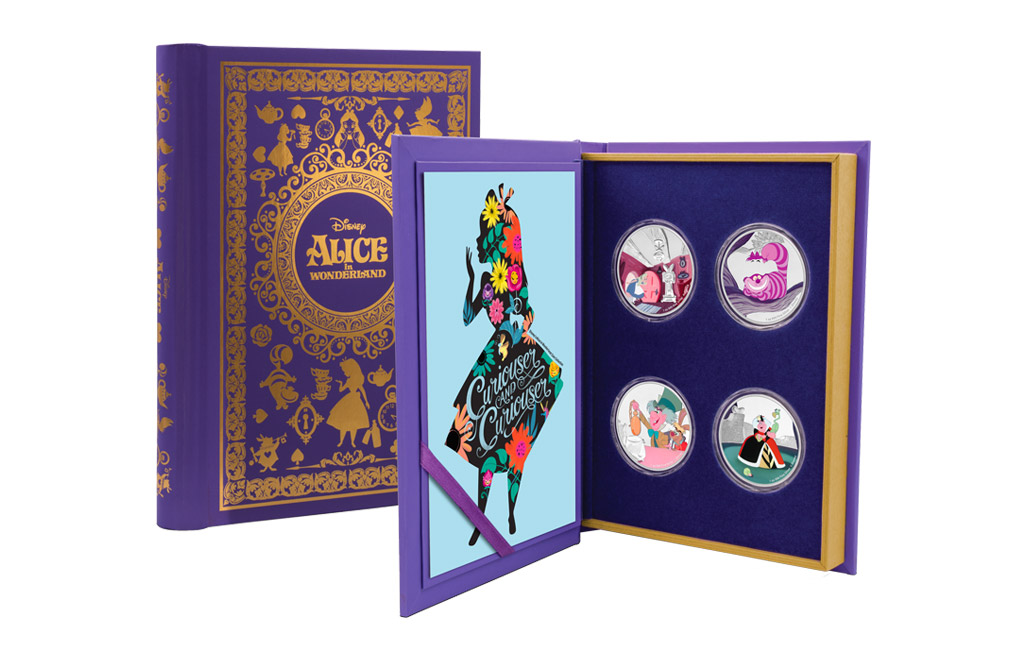 Buy 4 x 1 oz Silver Coin Set - Alice in Wonderland, image 0