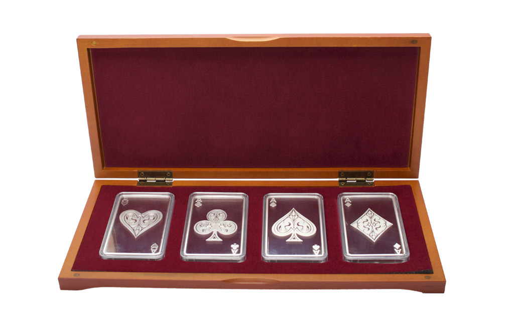 Buy 10 oz Silver Bar Set - 4 Aces, image 0