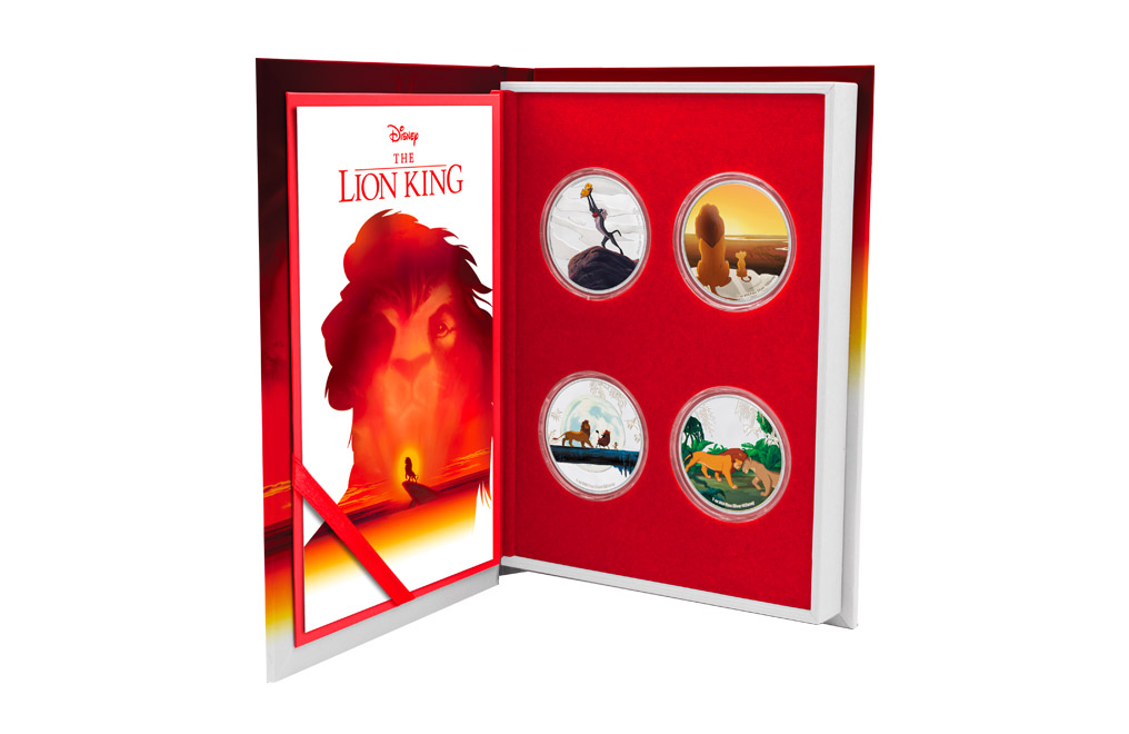 Buy 4 x 1 oz Silver Coin Set .999 - Disney - The Lion King, image 0