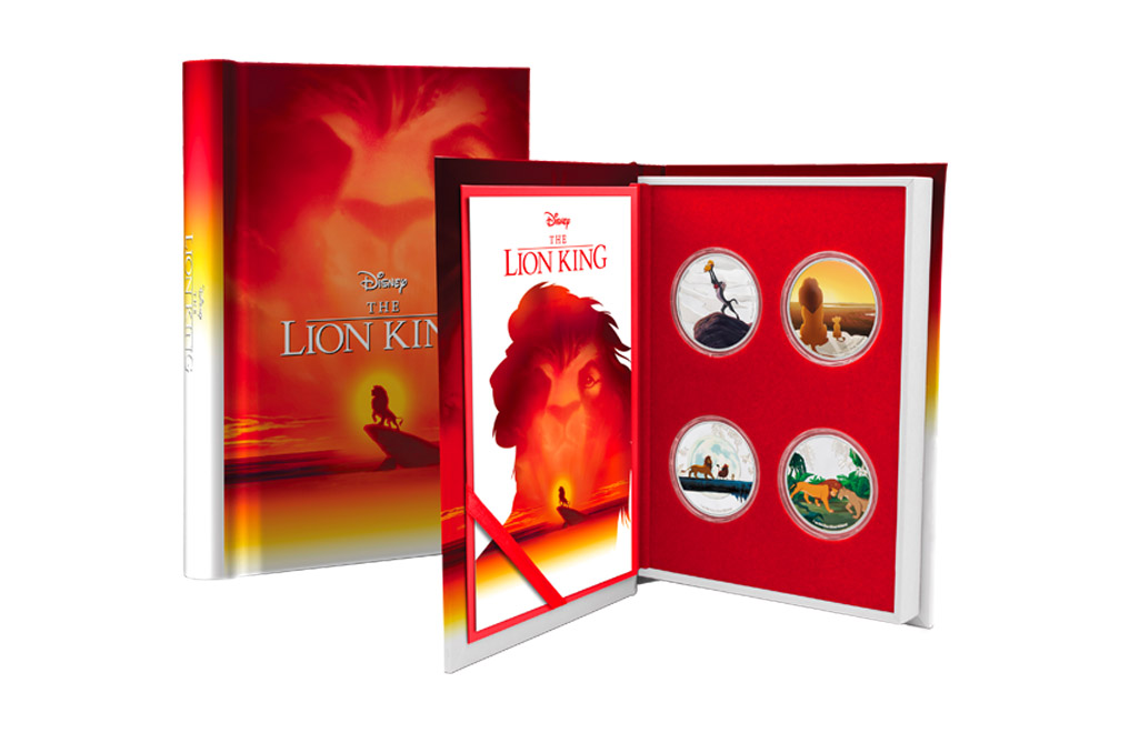 Buy 4 x 1 oz Silver Coin Set .999 - Disney - The Lion King, image 6