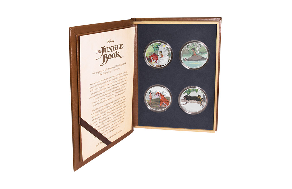Buy 4 x 1 oz Silver Coin Set - The Jungle Book 50th Anniversary, image 0