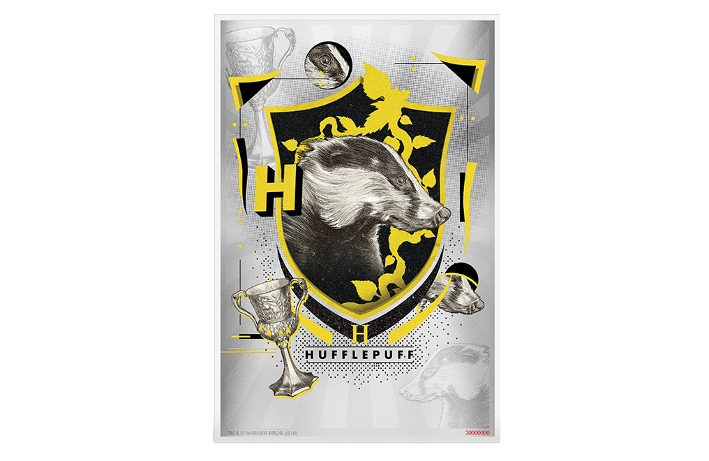 Buy 5 g Silver Coin Note .999 - Harry Potter - Hufflepuff, image 0